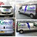 Logo and Livery design for Gtech Electrical Services.