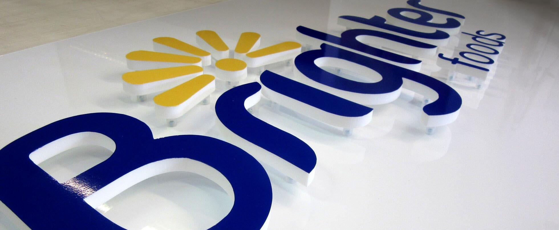 Acrylic Flat cut letters and Logos
