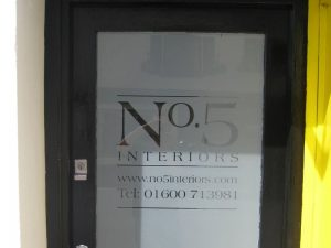 window graphics, shop window signs, Monmouth, Monmouthshire, South Wales